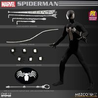 One-12 Collective Previews Exclusive Spider-Man Action Figure (Black Costume Version)