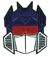 Transformers Soundwave Glitter Face Pin