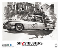 Ghostbusters Ecto 1 Ltd Ed Litho