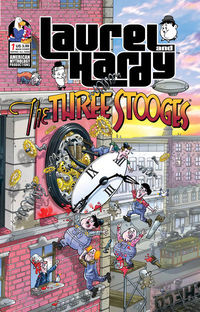 Laurel & Hardy Meet Three Stooges #1 (Cover B - Pacheco Laugh)