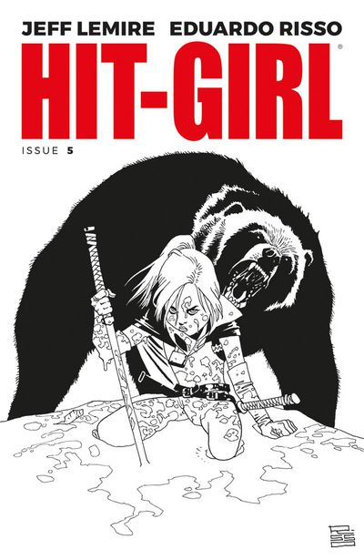 Hit-Girl #5 (Cover B - B&W Risso)