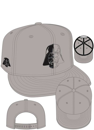 Darth Vader Mask Split Side Snap Back Cap
