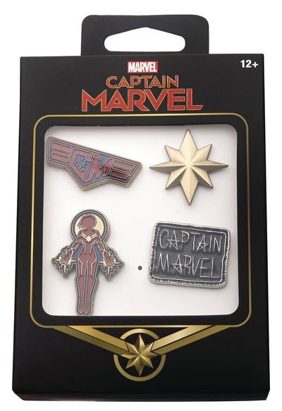 Captain Marvel 4pc Boxed Pin Set