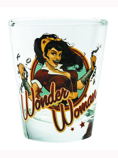 Toon Tumblers DC Bombshells Wonder Woman Mini Glass