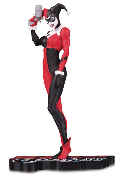 Harley Quinn Red White & Black Statue by Michael Turner
