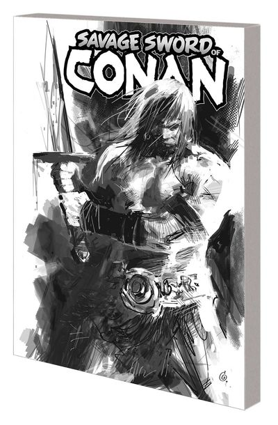 Savage Sword of Conan TPB Vol 01 Cult of Koga Thun B&W Dm Var