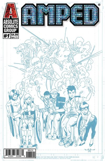 Amped #1 (Blue Line Holographic Logo Variant) Cover