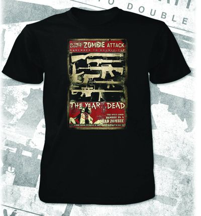 Year Of The Dead Double Tap Blk T-Shirt LG