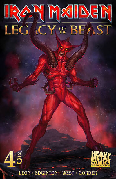 Iron Maiden Legacy of the Beast #4 (of 5) (Cover B)