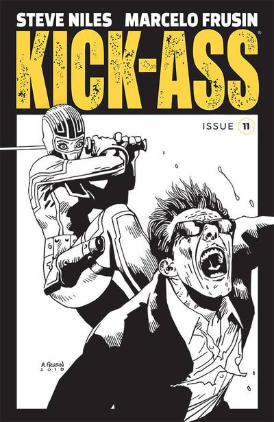 Kick-Ass #11 (Cover B - B&W Frusin)