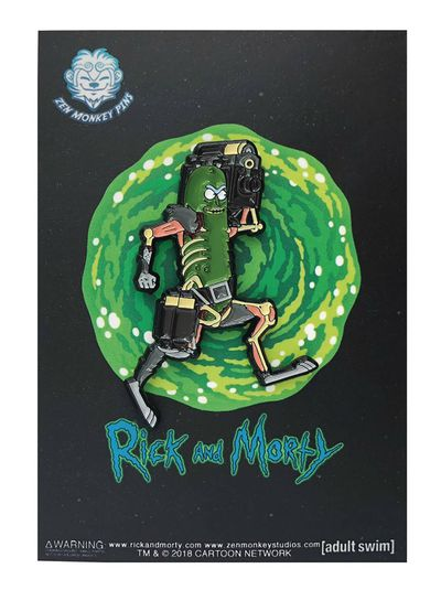 Rick and Morty Laser Gun Pickle Rick Pin