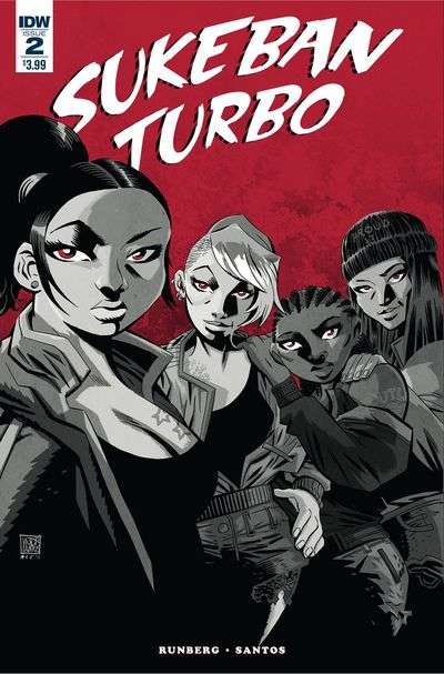 Sukeban Turbo #2 (of 4) Santos Cover