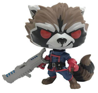 Pop Marvel GOTG Comic Rocket Raccoon Classic PX Figure
