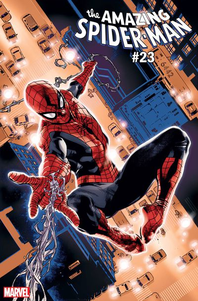 Amazing Spider-Man #23 (Immonen Spider-Man Blue Red Suit Variant)