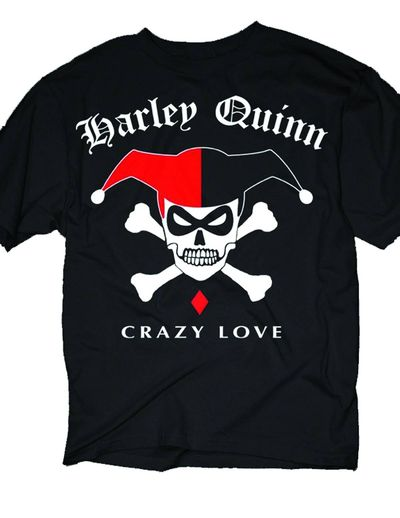 Harley Quinn Harley Simple Skull Previews Exclusive Blk T-Shirt LG