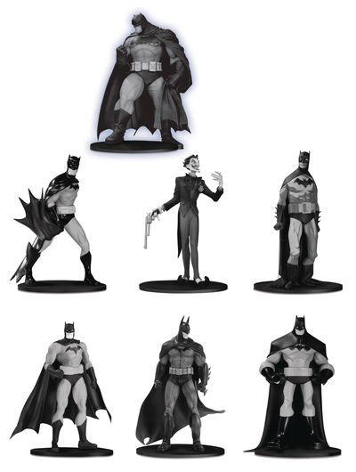 Batman Black & White Mini PVC Figure 7 Pack Set 3