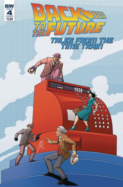 Back to the Future Time Train #4 (Cover A - Levens)