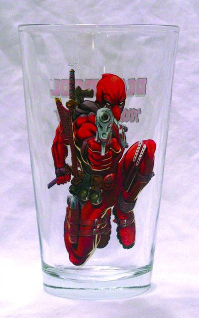 Toon Tumblers Deadpool Pint Glass