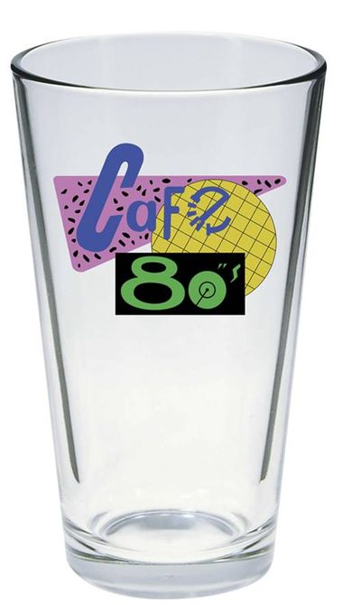 Back To the Future Cafe 80s Pint Glass