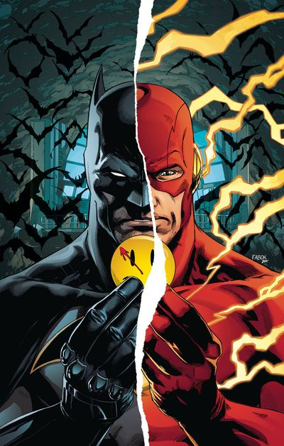 Batman Flash The Button Deluxe Edition HC (rebirth)