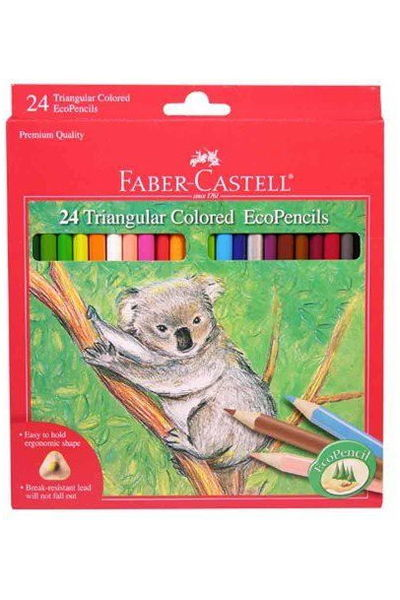Faber-Castell Triangular Colored EcoPencils - 24 CT