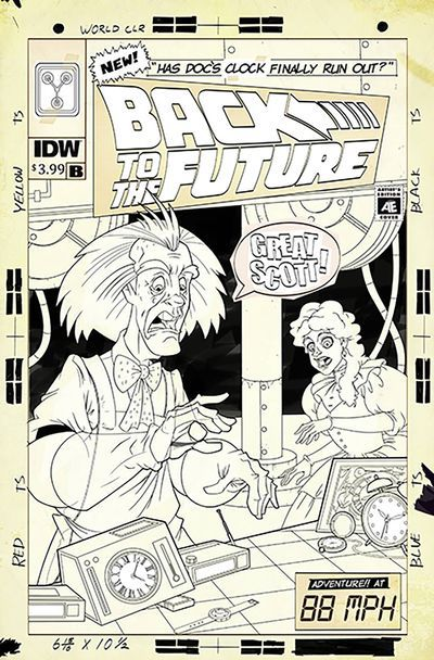 Back to the Future Time Train #1 (Cover B - Artist Edition Murphy)