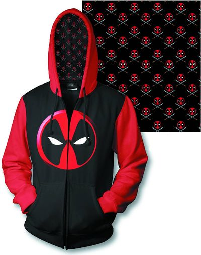 Deadpool Logo Previews Exclusive Zip Hoodie MED