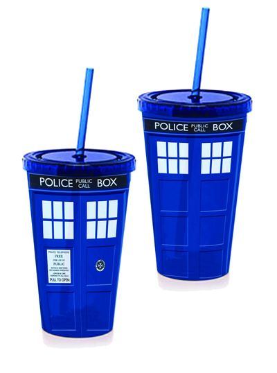 Doctor Who Tardis Full Color Lidded Tumbler