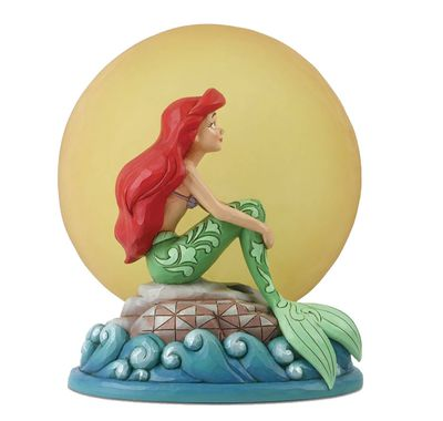 Dstra the Little Mermaid Ariel Sitting on Rock Figure