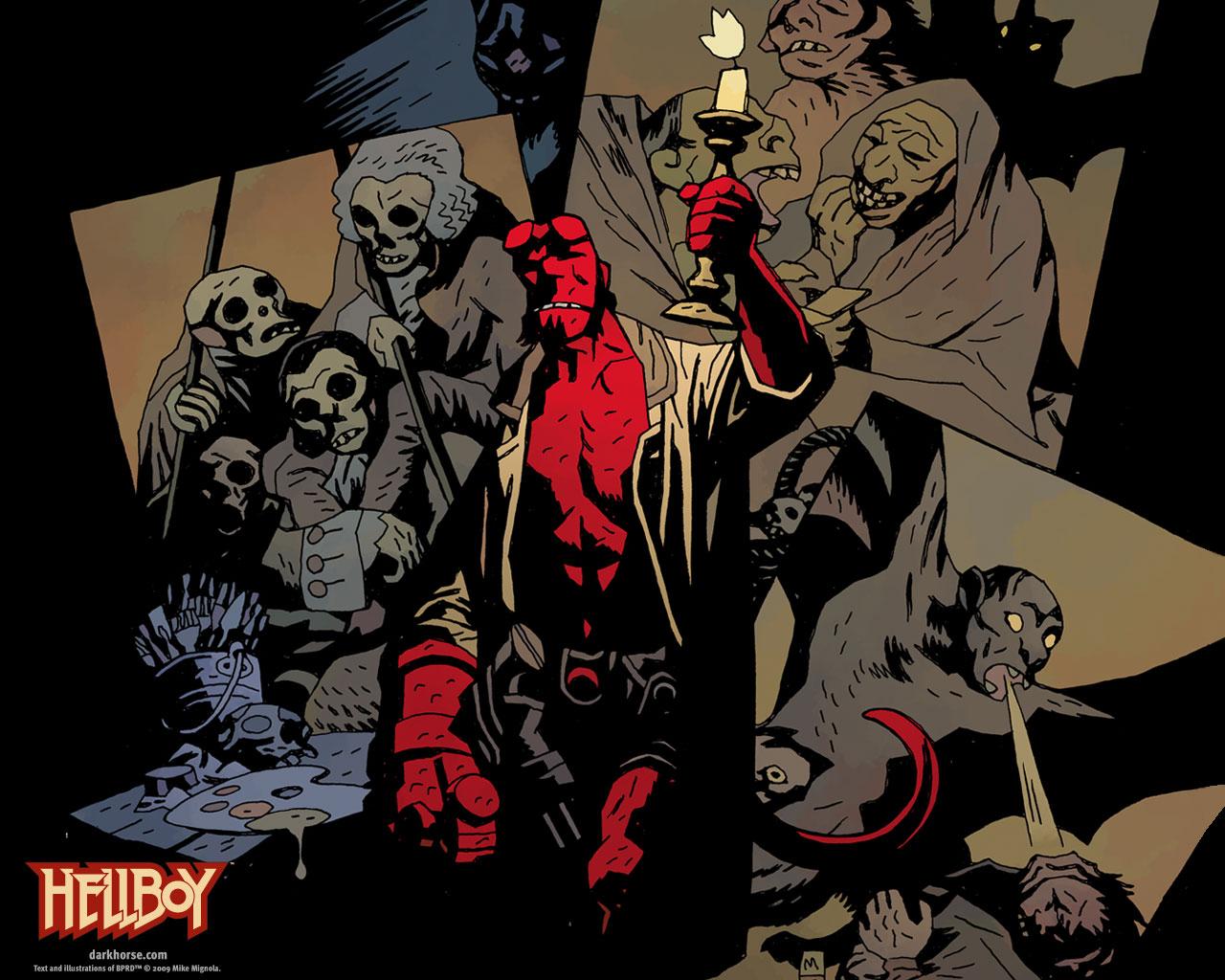 Resultado de imagem para hellboy comic wallpaper