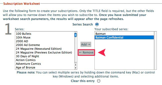 How to cancel a Series Subscription