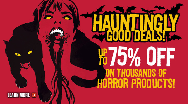 Save big on horror items at TFAW.com!